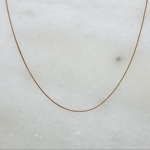 """Solid 10k rose gold 20"""" box chain necklace .8g"""